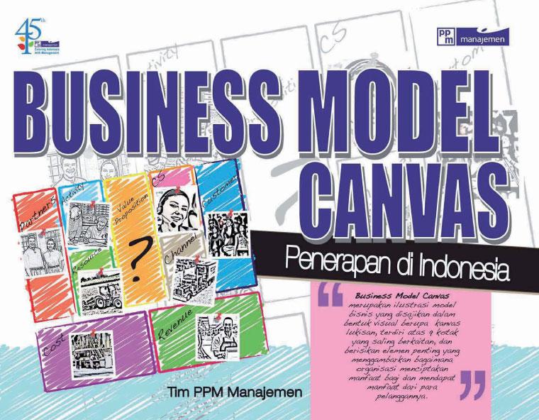 Business Model Generation Book Cover : Jual buku business model canvas penerapan di indonesia