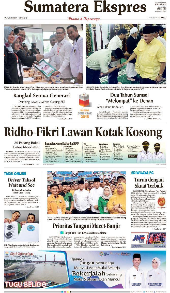 Koran Digital Sumatera Ekspres 11 Januari 2018