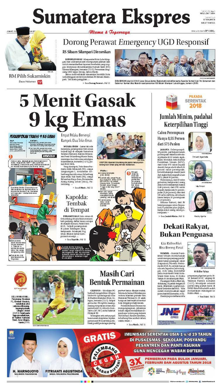 Koran Digital Sumatera Ekspres 12 Januari 2018