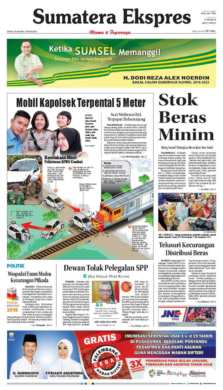 Koran Digital Sumatera Ekspres 15 Januari 2018