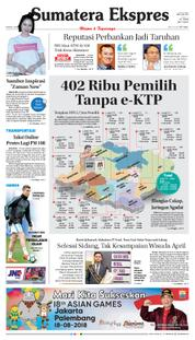 Sumatera Ekspres Cover 18 March 2018