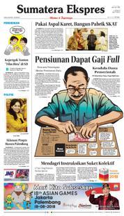Cover Sumatera Ekspres 22 Maret 2018