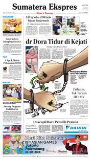 Cover Sumatera Ekspres 23 Maret 2018