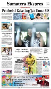 Cover Sumatera Ekspres 24 Maret 2018
