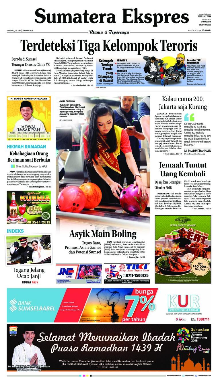 Koran Digital Sumatera Ekspres 20 Mei 2018