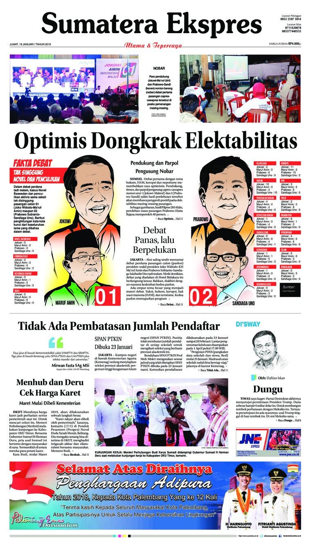Koran Digital Sumatera Ekspres 18 Januari 2019