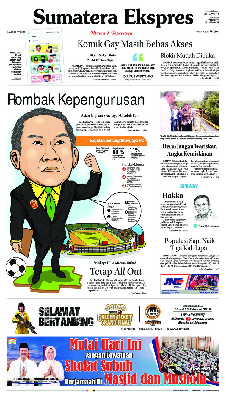 Koran Digital Sumatera Ekspres 21 Februari 2019