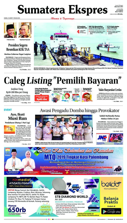 Koran Digital Sumatera Ekspres 21 Maret 2019