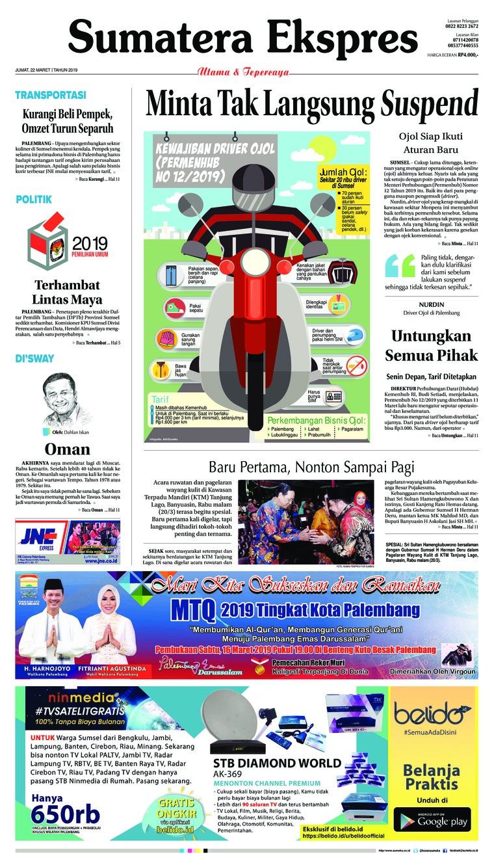Koran Digital Sumatera Ekspres 22 Maret 2019