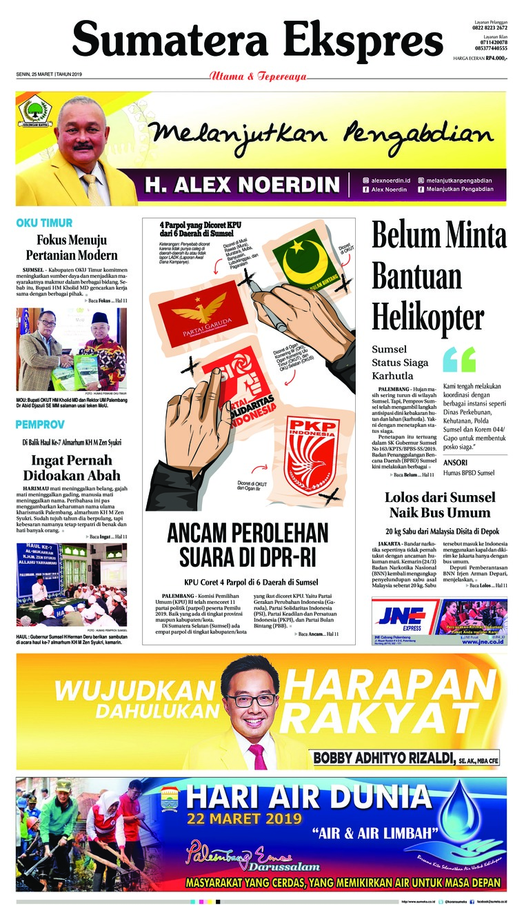 Sumatera Ekspres Digital Newspaper 25 March 2019