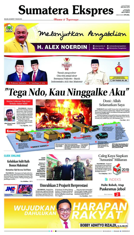 Koran Digital Sumatera Ekspres 26 Maret 2019