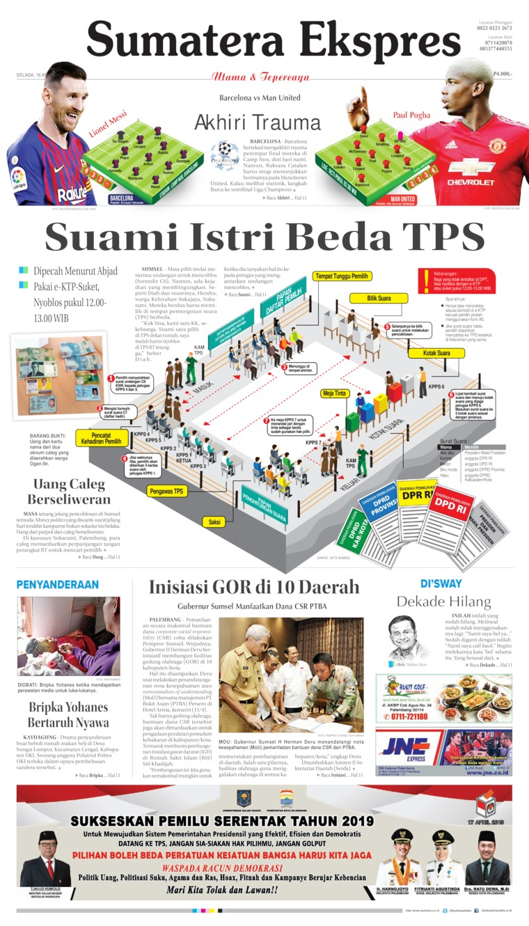 Sumatera Ekspres Digital Newspaper 16 April 2019