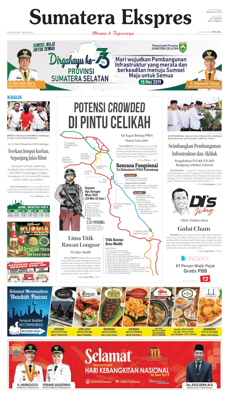 Sumatera Ekspres Digital Newspaper 20 May 2019