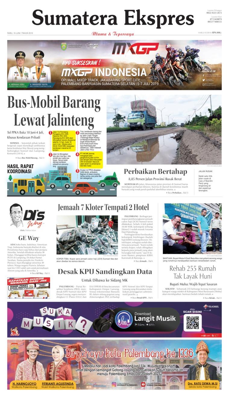 Koran Digital Sumatera Ekspres 19 Juni 2019