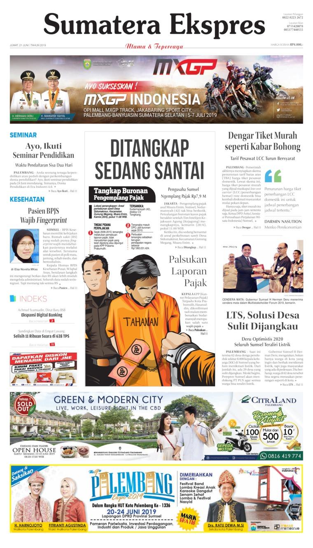 Koran Digital Sumatera Ekspres 21 Juni 2019