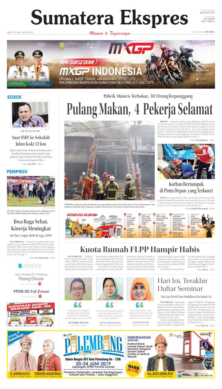 Koran Digital Sumatera Ekspres 22 Juni 2019