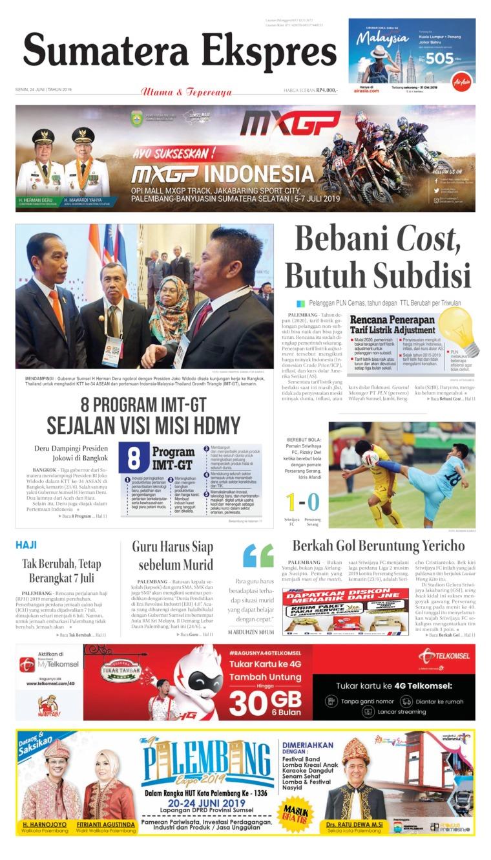 Koran Digital Sumatera Ekspres 24 Juni 2019