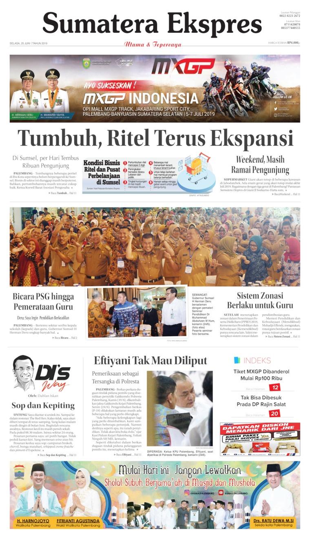 Koran Digital Sumatera Ekspres 25 Juni 2019