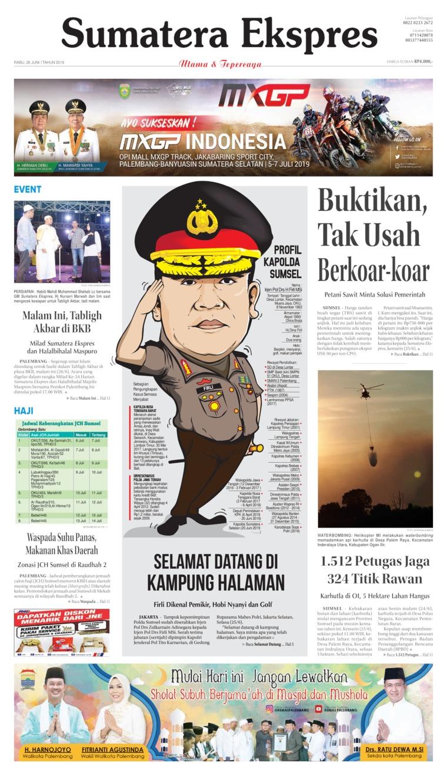 Koran Digital Sumatera Ekspres 26 Juni 2019