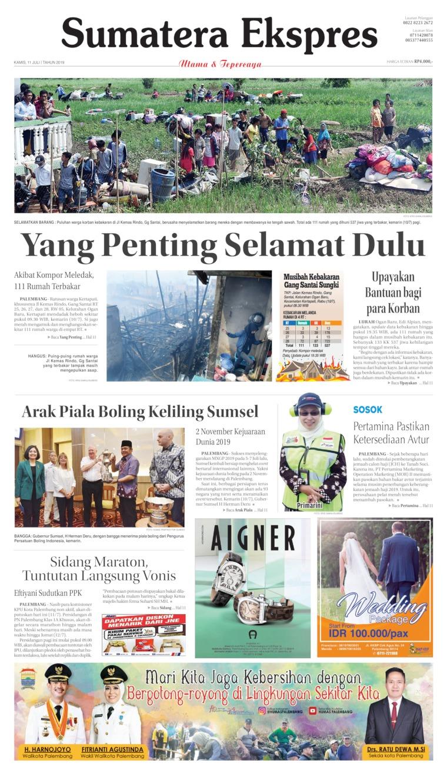 Koran Digital Sumatera Ekspres 11 Juli 2019