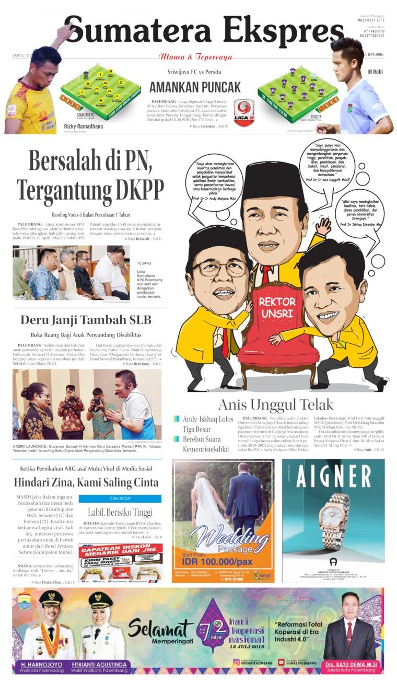 Koran Digital Sumatera Ekspres 13 Juli 2019