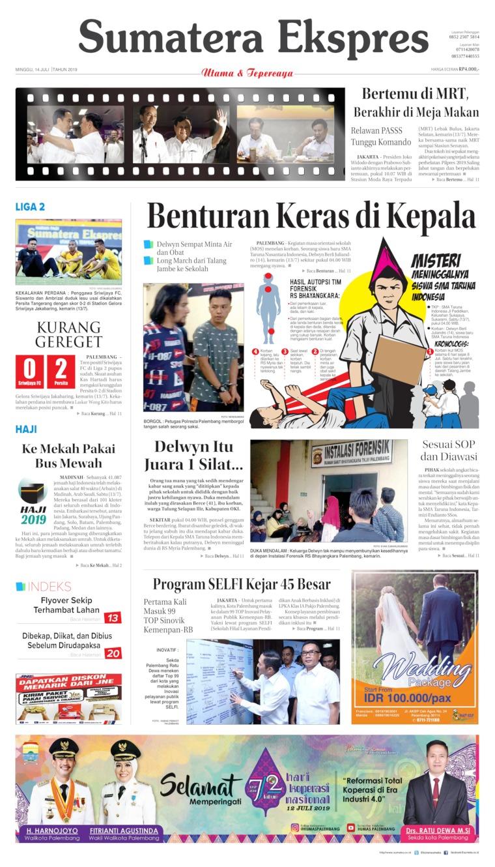 Sumatera Ekspres Digital Newspaper 14 July 2019