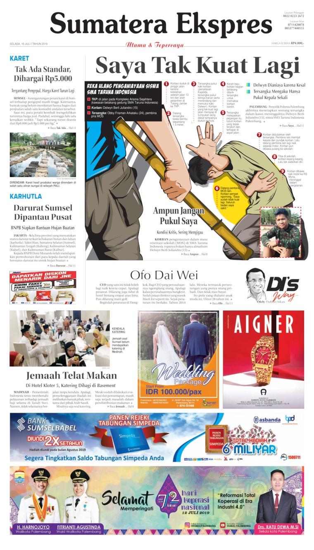 Sumatera Ekspres Digital Newspaper 16 July 2019
