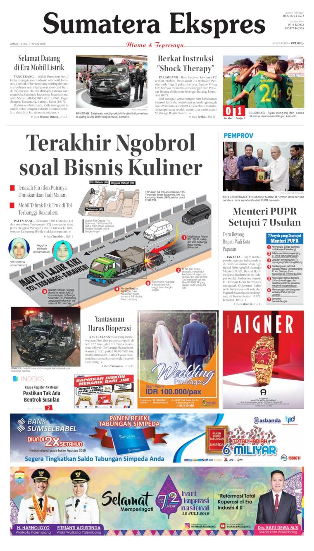 Sumatera Ekspres Digital Newspaper 19 July 2019