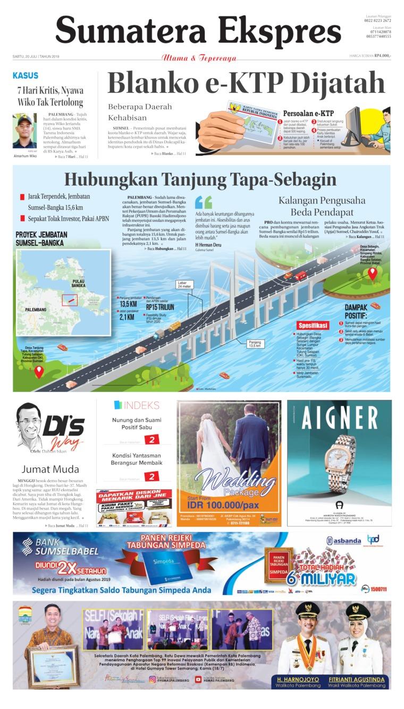 Sumatera Ekspres Digital Newspaper 20 July 2019