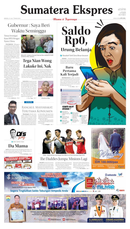 Koran Digital Sumatera Ekspres 21 Juli 2019
