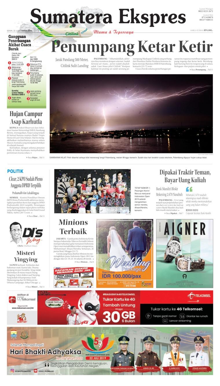 Koran Digital Sumatera Ekspres 22 Juli 2019