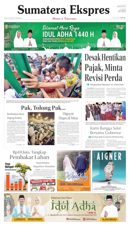 Sumatera Ekspres Digital Newspaper 12 August 2019