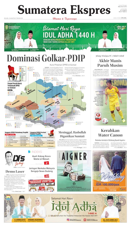 Sumatera Ekspres Digital Newspaper 13 August 2019