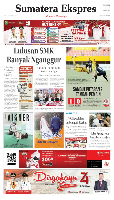 Sumatera Ekspres Digital Newspaper 15 August 2019