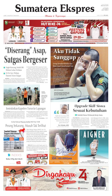 Sumatera Ekspres Digital Newspaper 16 August 2019