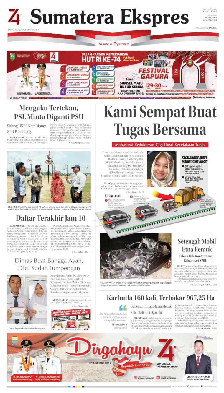 Sumatera Ekspres Digital Newspaper 17 August 2019
