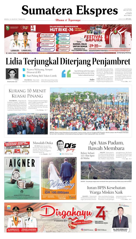 Koran Digital Sumatera Ekspres 18 Agustus 2019