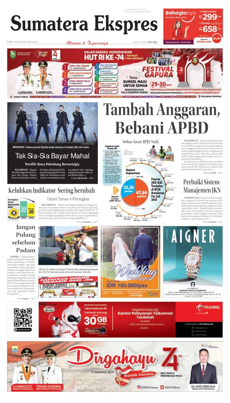 Koran Digital Sumatera Ekspres 19 Agustus 2019