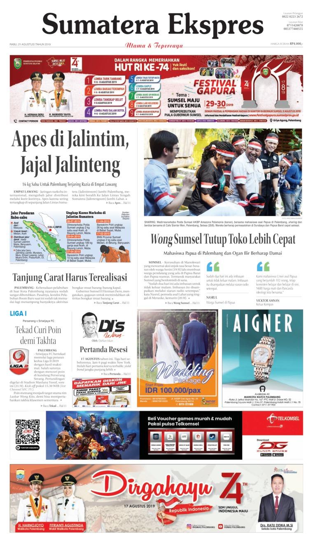 Koran Digital Sumatera Ekspres 21 Agustus 2019