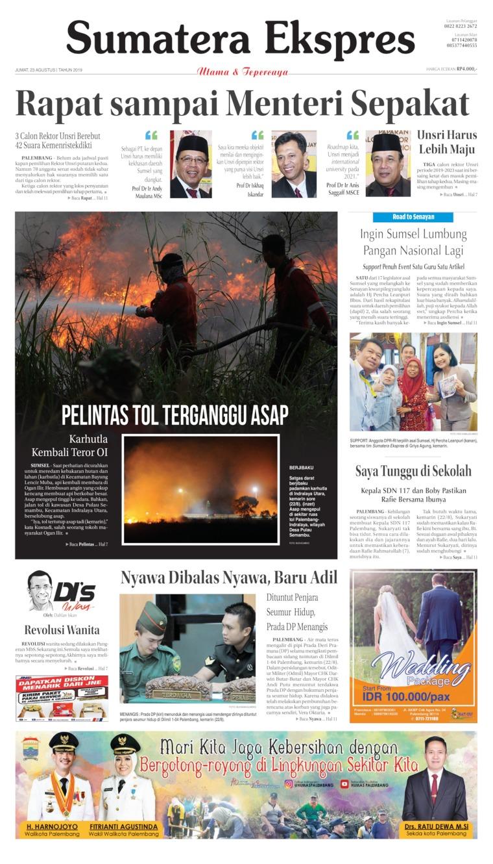 Sumatera Ekspres Digital Newspaper 23 August 2019