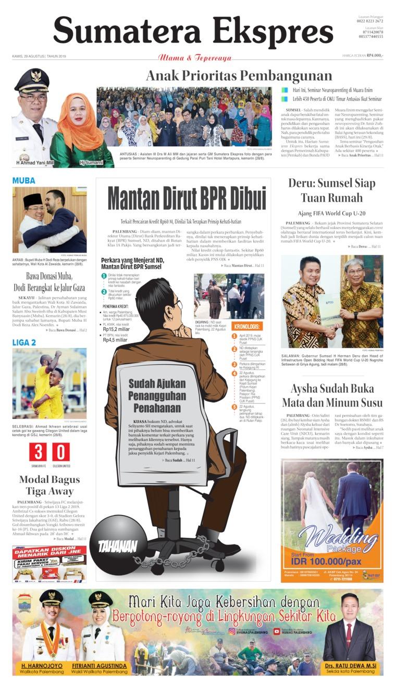 Koran Digital Sumatera Ekspres 29 Agustus 2019
