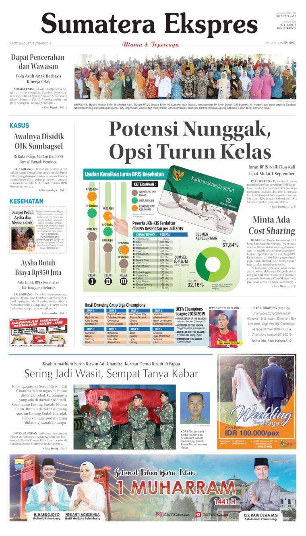 Koran Digital Sumatera Ekspres 30 Agustus 2019