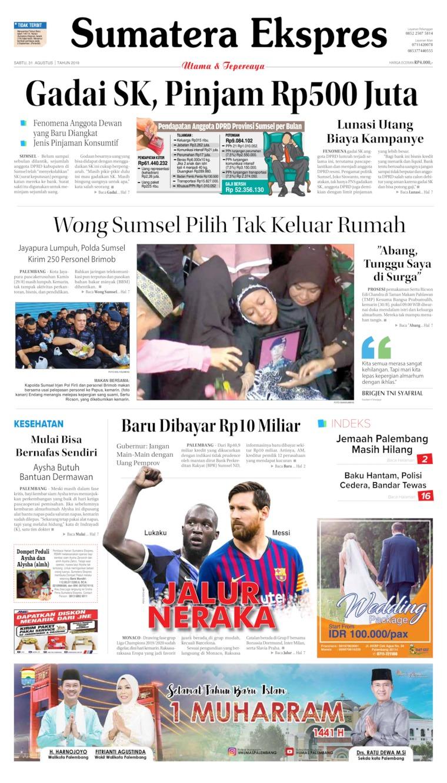 Koran Digital Sumatera Ekspres 01 September 2019