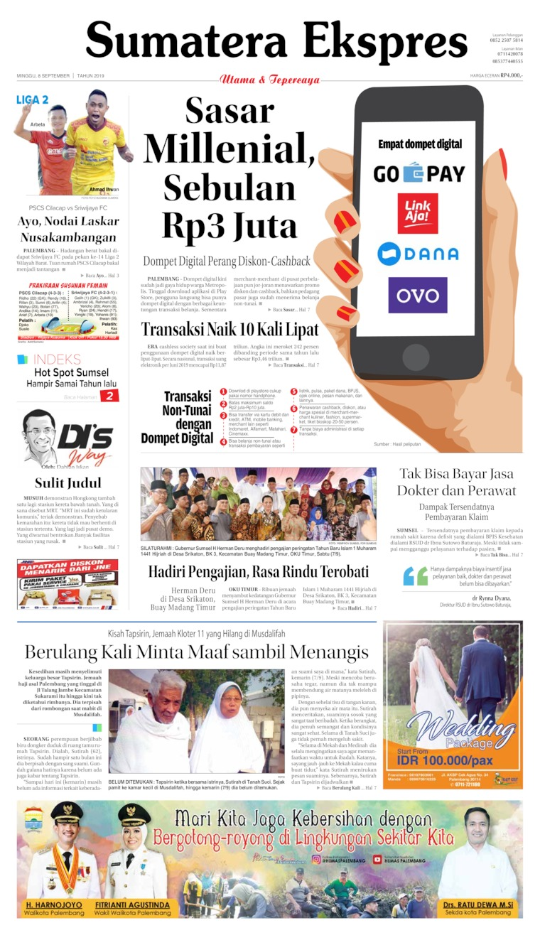 Koran Digital Sumatera Ekspres 08 September 2019