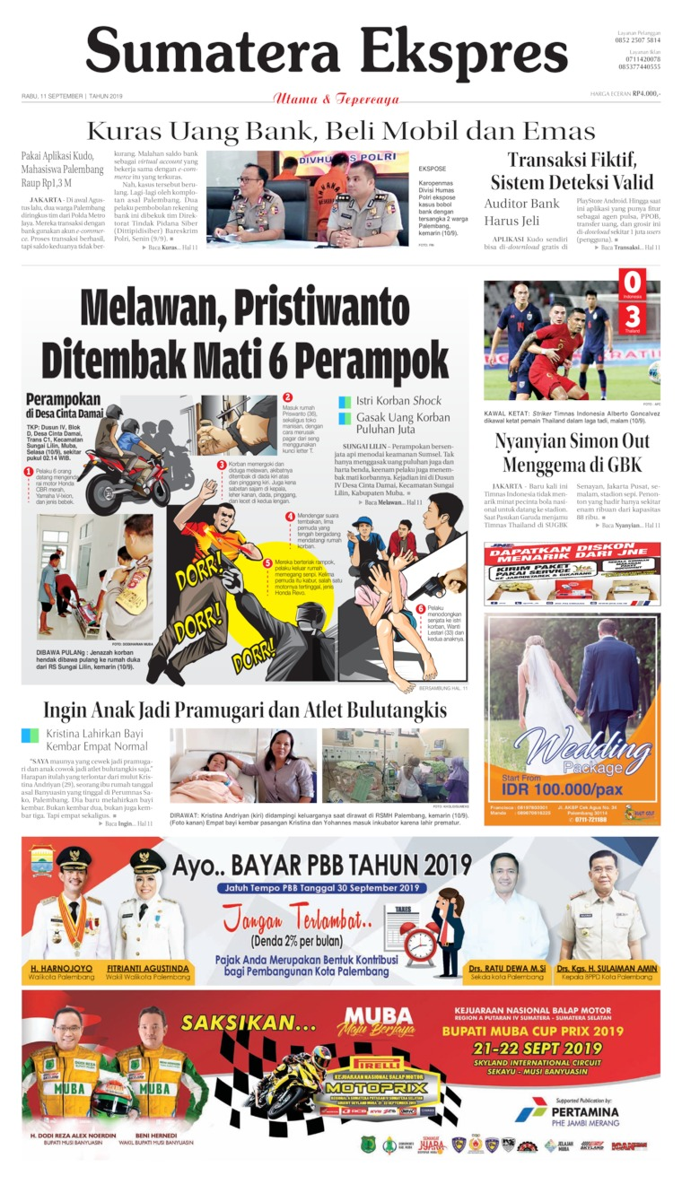 Koran Digital Sumatera Ekspres 11 September 2019