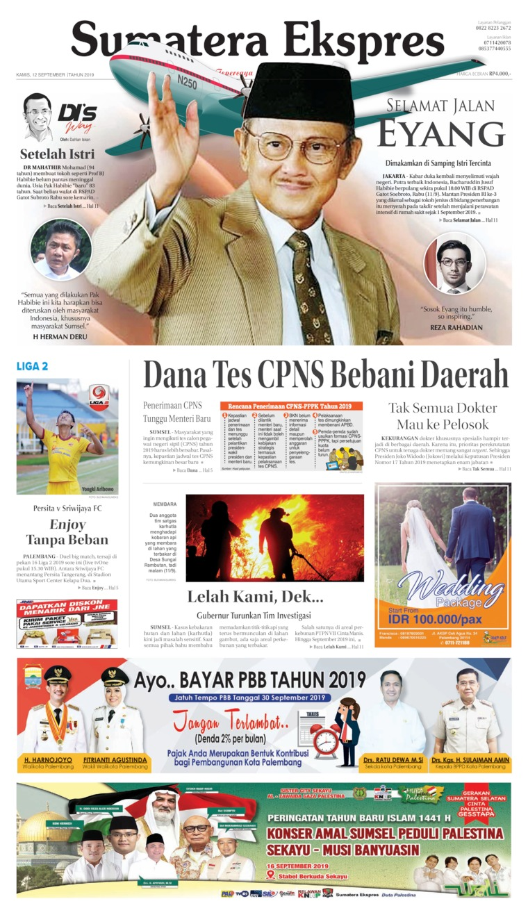 Koran Digital Sumatera Ekspres 12 September 2019
