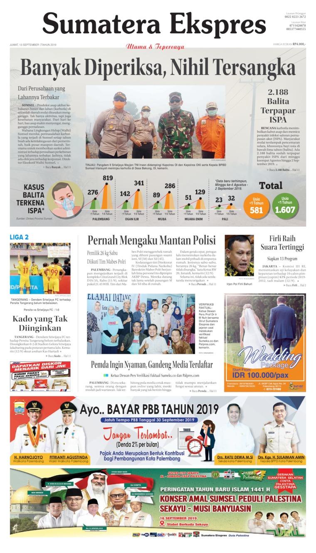 Koran Digital Sumatera Ekspres 13 September 2019