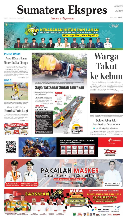 Sumatera Ekspres Digital Newspaper 17 September 2019