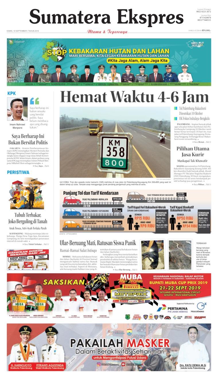 Sumatera Ekspres Digital Newspaper 19 September 2019