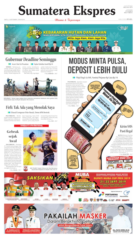 Sumatera Ekspres Digital Newspaper 21 September 2019